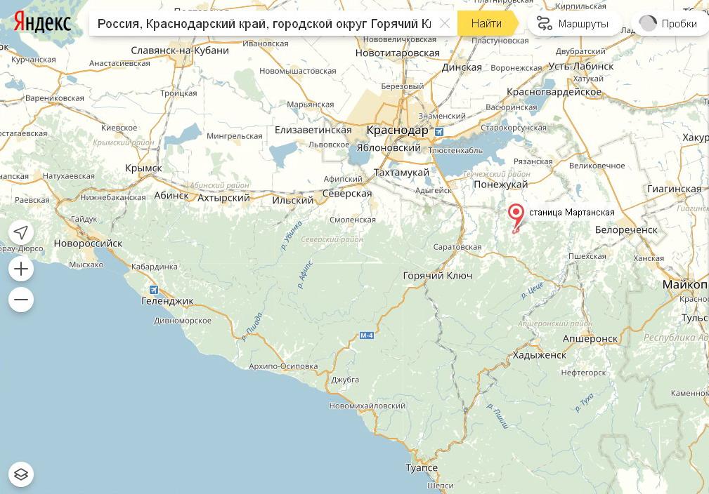 карта клева в краснодарском крае